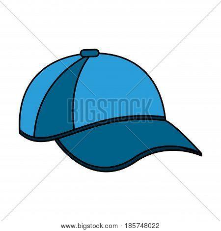 color image cartoon blue sport cap headwear vector illustration
