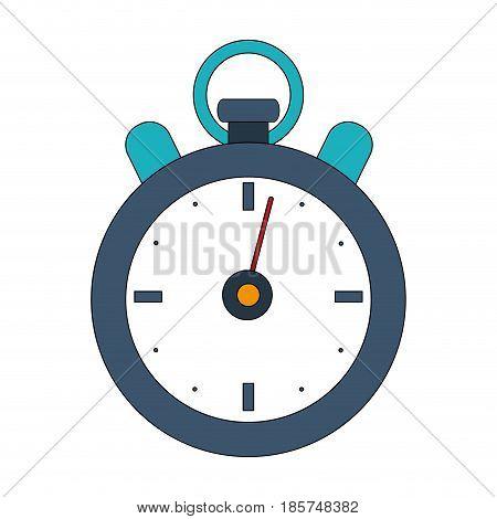 color image cartoon stopwatch icon vector illustration