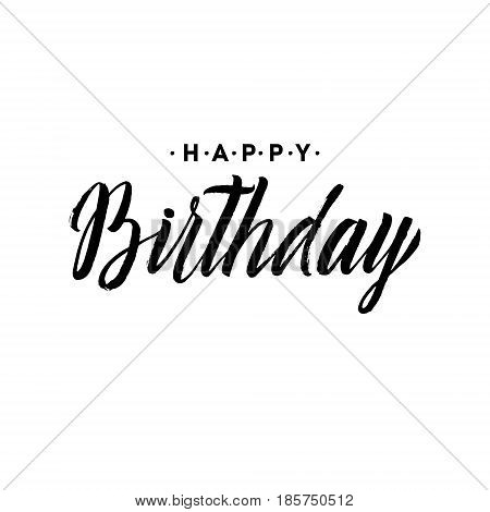 Happy Birthday to You Calligraphy Greeting Card. Hand Lettering - handmade calligraphy, vector design