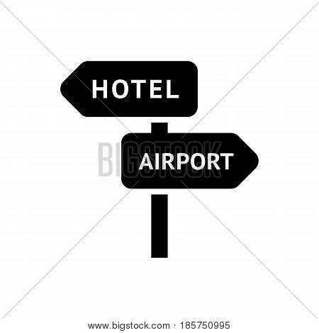 signpost icon isolated on white background flat style.
