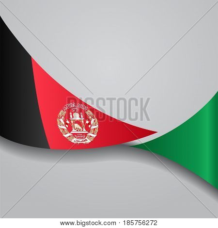 Afghanistan flag wavy abstract background. Vector illustration.