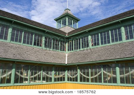 A detail of Crystal Palace in Prince Edward County, Ontario, Canada.