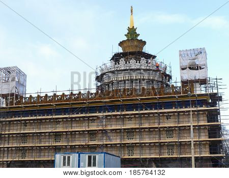 Ukraine - reconstruction of the frame of the building at VDNH
