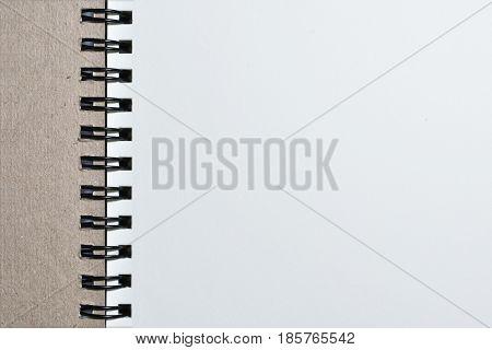 Thia image Close up Metal binding notebook