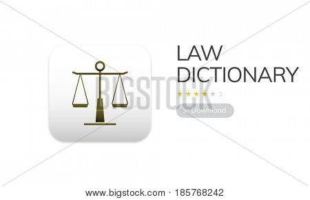 Law rights concept in graphic