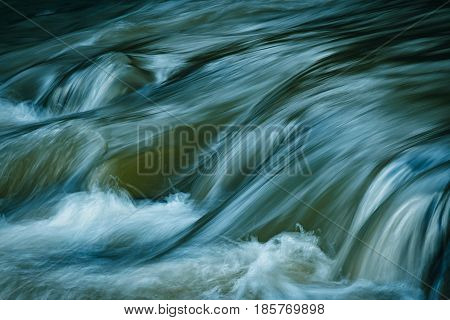 nature background Graceful river flow of the river