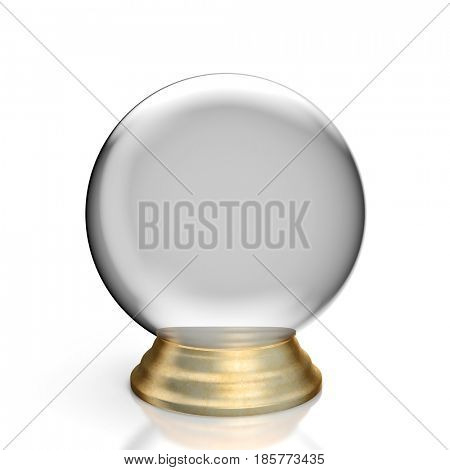 classic crystall ball 3d  rendring image