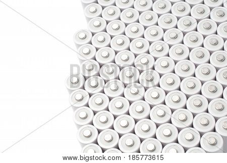 AA type white ni mh rechargeable batteries