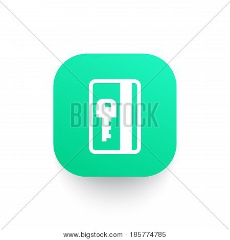 electronic pass, card key icon, eps 10 file, easy to edit