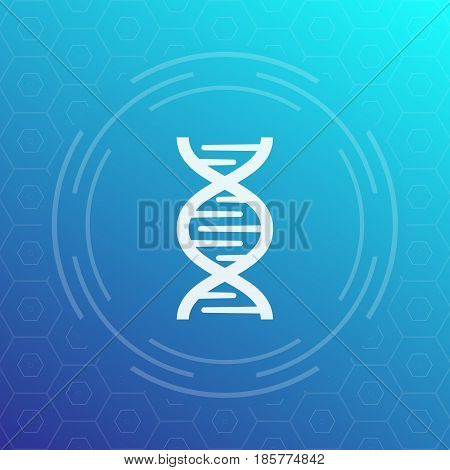 dna chain vector icon, sign, eps 10 file, easy to edit