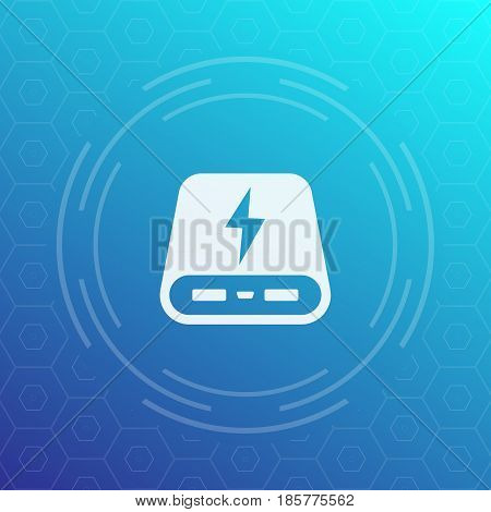 power bank vector icon, eps 10 file, easy to edit