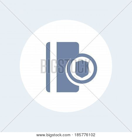 secure payment with credit card icon isolated over white