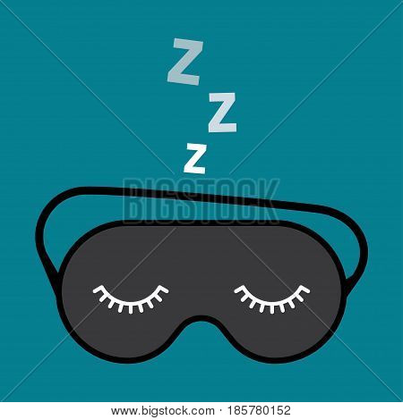 Sleep mask icon. Night accessory to sleep over white background vector illustration