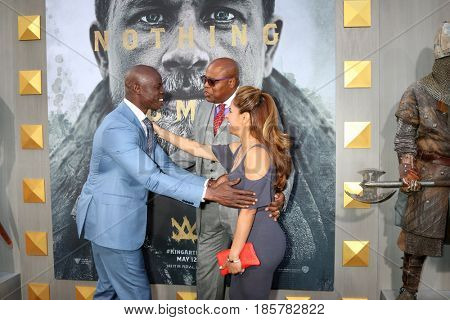 LOS ANGELES - MAY 8:  Djimon Hounsou, Chi McBride, Julissa McBride at the