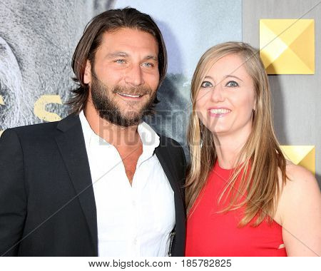 LOS ANGELES - MAY 8:  Zach McGowan, Emily Johnson at the