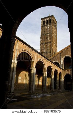 Milan, Basilica Of Sant`ambrogio