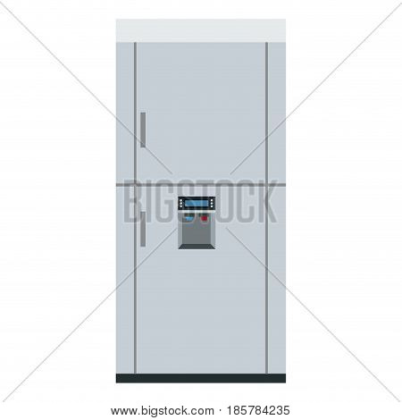 modern refrigerator cooler close electricity appliance vector illustration
