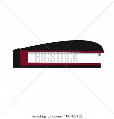 stapler office objet plastic black and red vector illustration