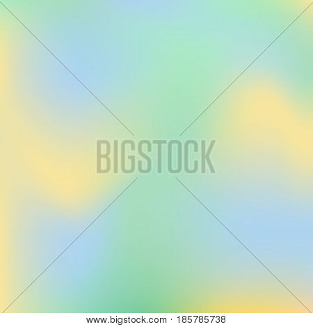 Vector blurred abstract background in bluegreen and yellow colors. Nature texture for design