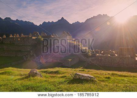 Ancient Peruvian Inca Town