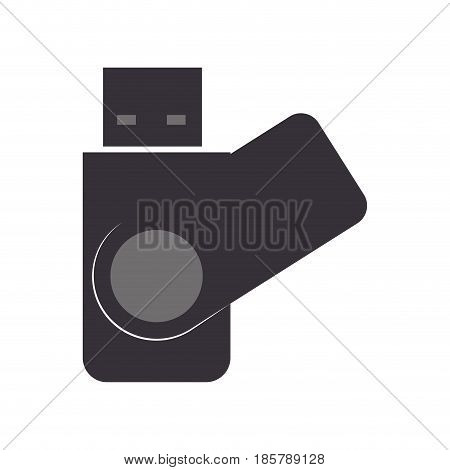 USB connection technology icon vector illustration graphic design