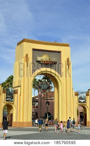 Universal Studios Resort Orlando Florida USA - October 25 2016: The Universal Orlando Resort adventure theme park in Orlando