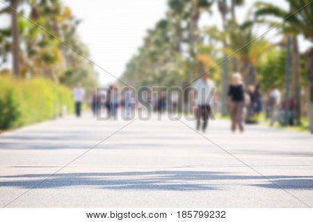 Sunny Walkway At Limassol Cyprus