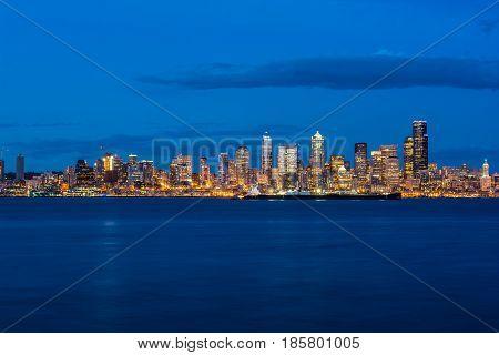 Seattle Skyline taken from Seattle Waterfront - West Seattle, WA