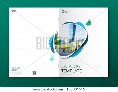 Catalog cover design. Corporate business brochure, annual report, catalogue, magazine template layout concept