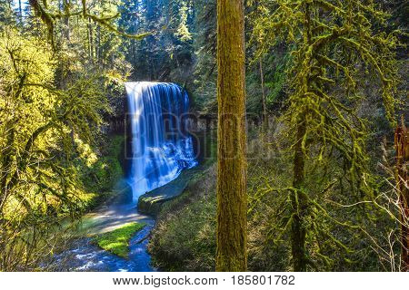 Lower South Falls at Silver Falls Statre Park East of Salem, OR