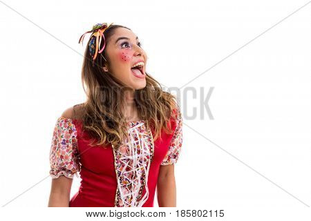 Brazilian woman on Junina Party costume