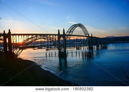 Astoria Bridge at Sunset - Columbia River, Astoria, OR