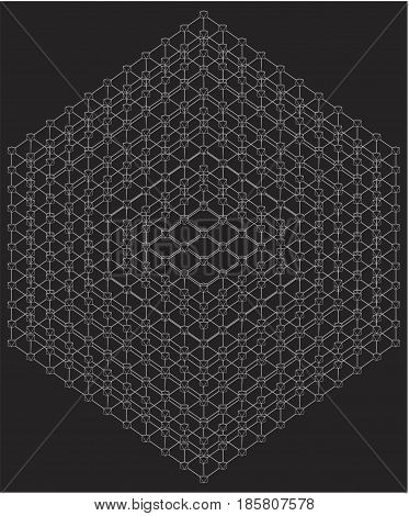 Cube With Line Edges And Octa...
