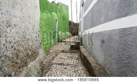 Colorful walls of the walled city of Harar, Ethiopia