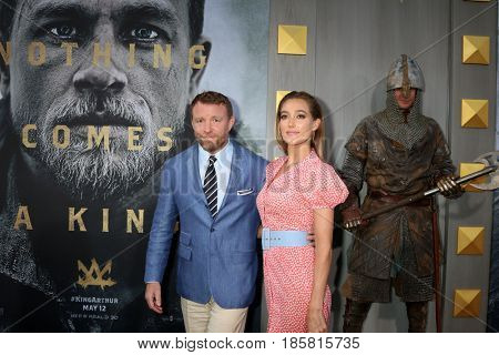 LOS ANGELES - MAY 8:  Guy Ritchie, Jacqui Ainsley at the