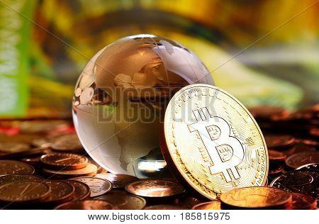 Bitcoin Cristal Globe
