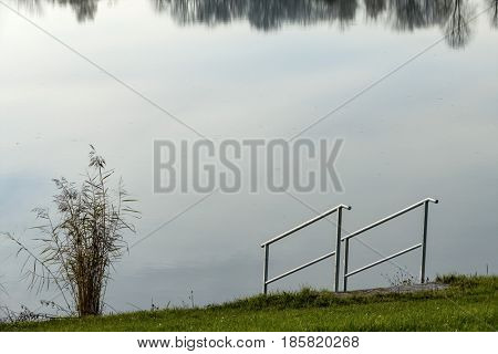 railings on the shore