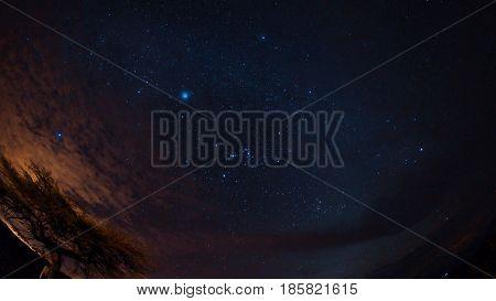 Starry night in the Desierto de la Tatacoa (Tatacoa Desert) in Villavieja, Huila / Colombia