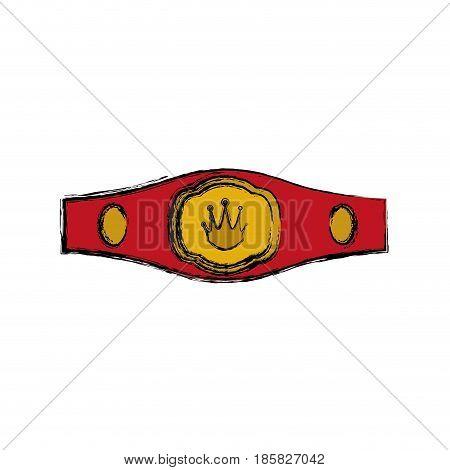 Boxing trophy championship icon vector illustration graphic design