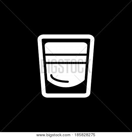 shot glass icon vector. cocktail illustration. eps 10