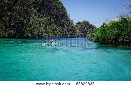 Seascape Of Palawan Islands In Philippines