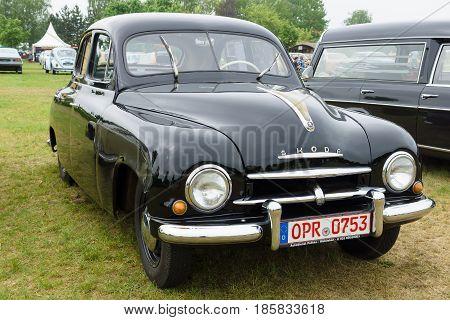 PAAREN IM GLIEN GERMANY - MAY 19: Family Car Skoda 1200 The oldtimer show in MAFZ May 19 2013 in Paaren im Glien Germany