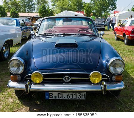 PAAREN IM GLIEN GERMANY - MAY 19: The two-door roadster Sunbeam Tiger The oldtimer show in MAFZ May 19 2013 in Paaren im Glien Germany