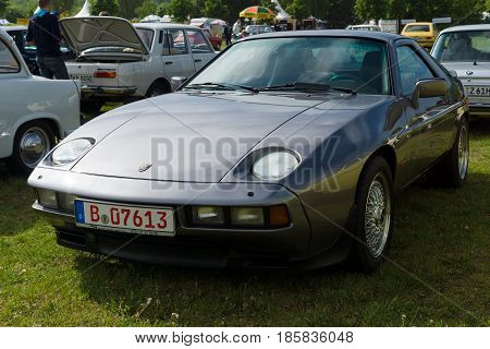 PAAREN IM GLIEN GERMANY - MAY 19: The two-door coupe Porsche 928 The oldtimer show in MAFZ May 19 2013 in Paaren im Glien Germany