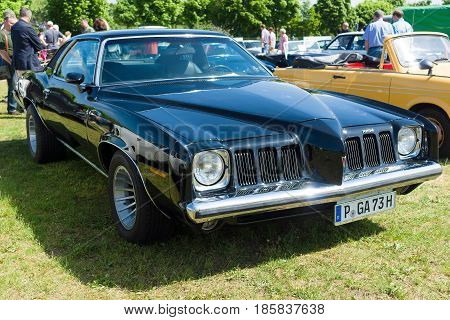 PAAREN IM GLIEN GERMANY - MAY 19: Mid-size car Pontiac Grand Am The oldtimer show in MAFZ May 19 2013 in Paaren im Glien Germany
