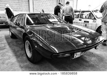 PAAREN IM GLIEN GERMANY - MAY 19: Sport coupe Ferrari Dino 208 GT4 black and white