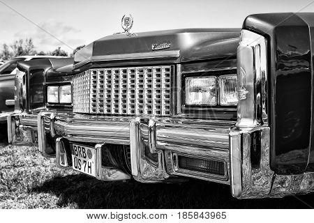 Paaren Im Glien, Germany - May 19: Full-size Personal Luxury Car Cadillac Eldorado, Black And White,