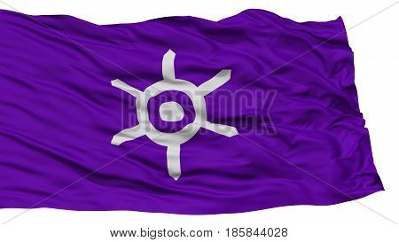 Isolated Tokyo Flag, Capital of Japan Prefecture, Waving on White Background, High Resolution
