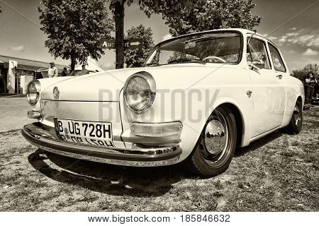 Paaren Im Glien, Germany - May 19: Compact Car Volkswagen 1500 (notchback), Sepia,