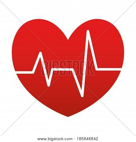cardio heart icon over white background. vector illustration
